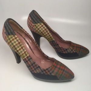 Miu Miu wool patchwork heels
